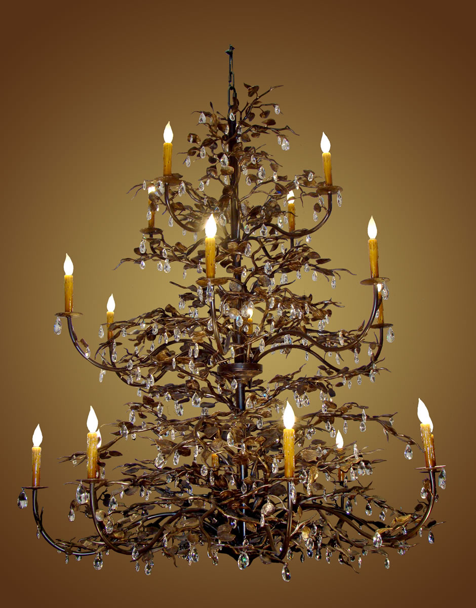 Mountain lighting fixtures 4 custom three tier chandelier aspen and crystal detail arubaitofo Image collections