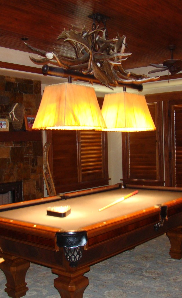 Game Room Lighting - Antler pool table light