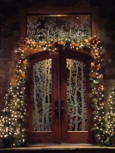 Carved Glass Entry Doors