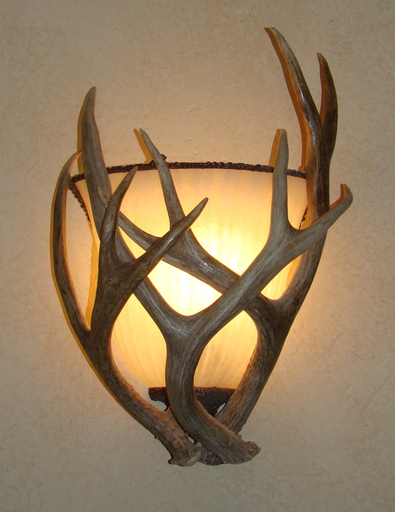 resin wall sconce p antler creative sconces fixture
